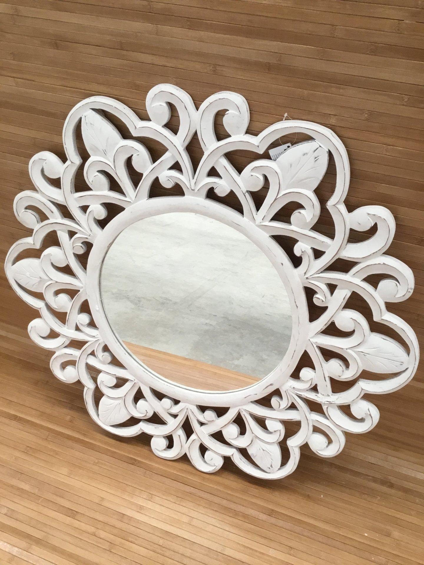 Espejo tnico grande tallado karol dekora - Espejos etnicos ...